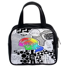 Panic ! At The Disco Classic Handbags (2 Sides) by Onesevenart