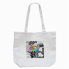 Panic ! At The Disco Tote Bag (white) by Onesevenart