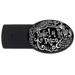 Panic ! At The Disco Lyric Quotes Usb Flash Drive Oval (2 Gb) by Onesevenart