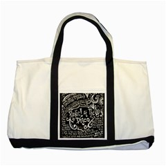 Panic ! At The Disco Lyric Quotes Two Tone Tote Bag by Onesevenart