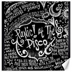 Panic ! At The Disco Lyric Quotes Canvas 16  X 16   by Onesevenart