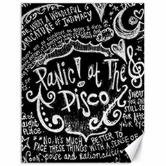 Panic ! At The Disco Lyric Quotes Canvas 18  X 24   by Onesevenart