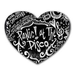 Panic ! At The Disco Lyric Quotes Heart Mousepads by Onesevenart