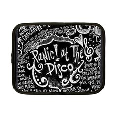 Panic ! At The Disco Lyric Quotes Netbook Case (small)  by Onesevenart