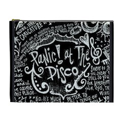 Panic ! At The Disco Lyric Quotes Cosmetic Bag (xl) by Onesevenart