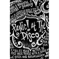 Panic ! At The Disco Lyric Quotes 5 5  X 8 5  Notebooks by Onesevenart