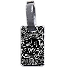 Panic ! At The Disco Lyric Quotes Luggage Tags (one Side)  by Onesevenart