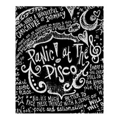 Panic ! At The Disco Lyric Quotes Shower Curtain 60  X 72  (medium)  by Onesevenart