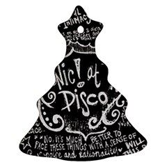 Panic ! At The Disco Lyric Quotes Ornament (christmas Tree)