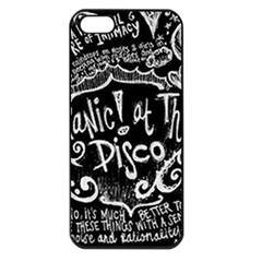 Panic ! At The Disco Lyric Quotes Apple Iphone 5 Seamless Case (black) by Onesevenart