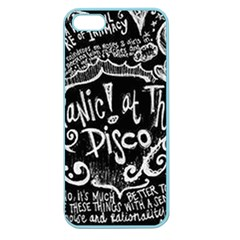 Panic ! At The Disco Lyric Quotes Apple Seamless Iphone 5 Case (color) by Onesevenart
