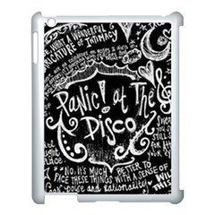 Panic ! At The Disco Lyric Quotes Apple Ipad 3/4 Case (white) by Onesevenart