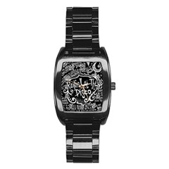 Panic ! At The Disco Lyric Quotes Stainless Steel Barrel Watch by Onesevenart
