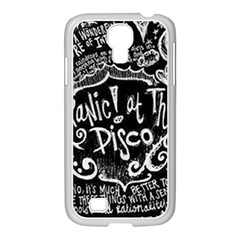 Panic ! At The Disco Lyric Quotes Samsung Galaxy S4 I9500/ I9505 Case (white) by Onesevenart