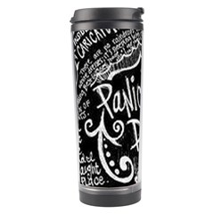 Panic ! At The Disco Lyric Quotes Travel Tumbler by Onesevenart