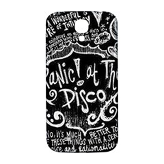 Panic ! At The Disco Lyric Quotes Samsung Galaxy S4 I9500/i9505  Hardshell Back Case by Onesevenart