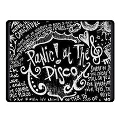 Panic ! At The Disco Lyric Quotes Double Sided Fleece Blanket (small)  by Onesevenart