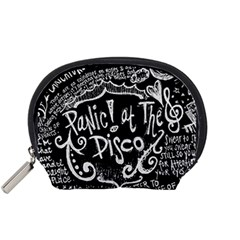 Panic ! At The Disco Lyric Quotes Accessory Pouches (small)  by Onesevenart