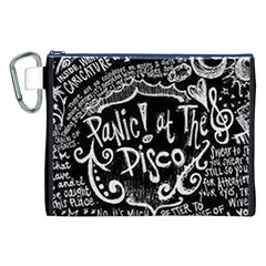 Panic ! At The Disco Lyric Quotes Canvas Cosmetic Bag (xxl) by Onesevenart