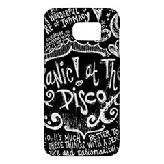 Panic ! At The Disco Lyric Quotes Galaxy S6 by Onesevenart