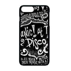 Panic ! At The Disco Lyric Quotes Apple Iphone 7 Plus Seamless Case (black) by Onesevenart