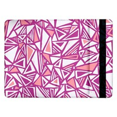 Conversational Triangles Pink White Samsung Galaxy Tab Pro 12 2  Flip Case by Mariart