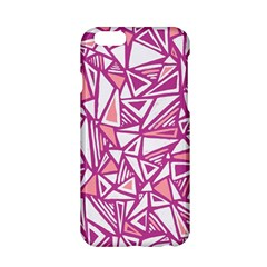 Conversational Triangles Pink White Apple Iphone 6/6s Hardshell Case by Mariart