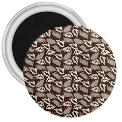 Dried Leaves Grey White Camuflage Summer 3  Magnets by Mariart