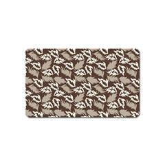 Dried Leaves Grey White Camuflage Summer Magnet (name Card) by Mariart