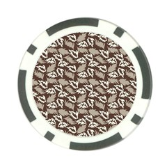 Dried Leaves Grey White Camuflage Summer Poker Chip Card Guard by Mariart