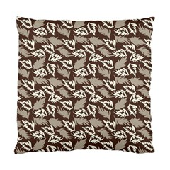 Dried Leaves Grey White Camuflage Summer Standard Cushion Case (one Side) by Mariart