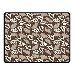 Dried Leaves Grey White Camuflage Summer Fleece Blanket (small) by Mariart