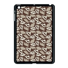 Dried Leaves Grey White Camuflage Summer Apple Ipad Mini Case (black) by Mariart