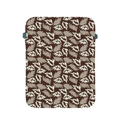 Dried Leaves Grey White Camuflage Summer Apple Ipad 2/3/4 Protective Soft Cases by Mariart