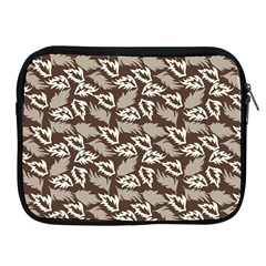Dried Leaves Grey White Camuflage Summer Apple Ipad 2/3/4 Zipper Cases by Mariart