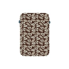 Dried Leaves Grey White Camuflage Summer Apple Ipad Mini Protective Soft Cases by Mariart