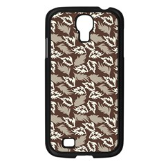 Dried Leaves Grey White Camuflage Summer Samsung Galaxy S4 I9500/ I9505 Case (black) by Mariart