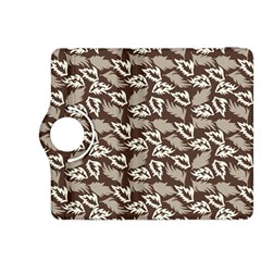 Dried Leaves Grey White Camuflage Summer Kindle Fire Hdx 8 9  Flip 360 Case by Mariart