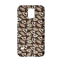 Dried Leaves Grey White Camuflage Summer Samsung Galaxy S5 Hardshell Case  by Mariart