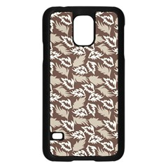 Dried Leaves Grey White Camuflage Summer Samsung Galaxy S5 Case (black) by Mariart