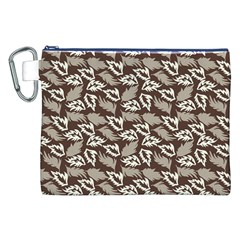 Dried Leaves Grey White Camuflage Summer Canvas Cosmetic Bag (xxl) by Mariart
