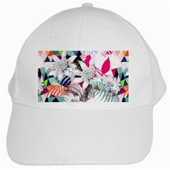 Flower Graphic Pattern Floral White Cap by Mariart