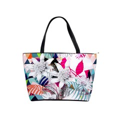 Flower Graphic Pattern Floral Shoulder Handbags by Mariart