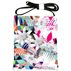 Flower Graphic Pattern Floral Shoulder Sling Bags by Mariart