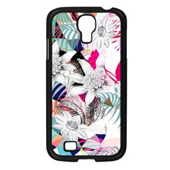 Flower Graphic Pattern Floral Samsung Galaxy S4 I9500/ I9505 Case (black) by Mariart