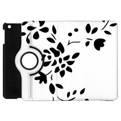 Flower Rose Black Sexy Apple Ipad Mini Flip 360 Case by Mariart