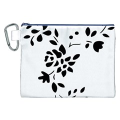 Flower Rose Black Sexy Canvas Cosmetic Bag (xxl) by Mariart
