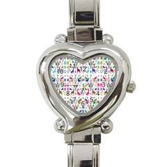 Birds Fish Flowers Floral Star Blue White Sexy Animals Beauty Rainbow Pink Purple Blue Green Orange Heart Italian Charm Watch by Mariart