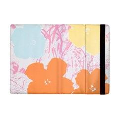 Flower Sunflower Floral Pink Orange Beauty Blue Yellow Apple Ipad Mini Flip Case by Mariart