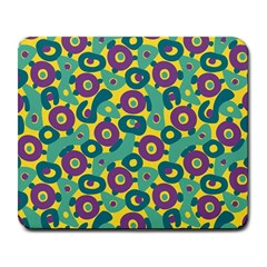 Discrete State Turing Pattern Polka Dots Green Purple Yellow Rainbow Sexy Beauty Large Mousepads by Mariart
